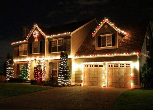 outdoor christmas lights ideas